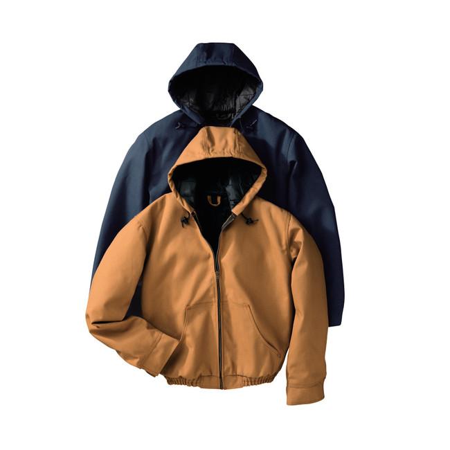 Red Kap Men's Blended Duck Zip-Front Hooded Jacket 2 Colors - JD20