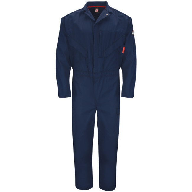 Bulwark FR Flame Resistant iQ Series Endurance Premium Coverall - QC10 Navy