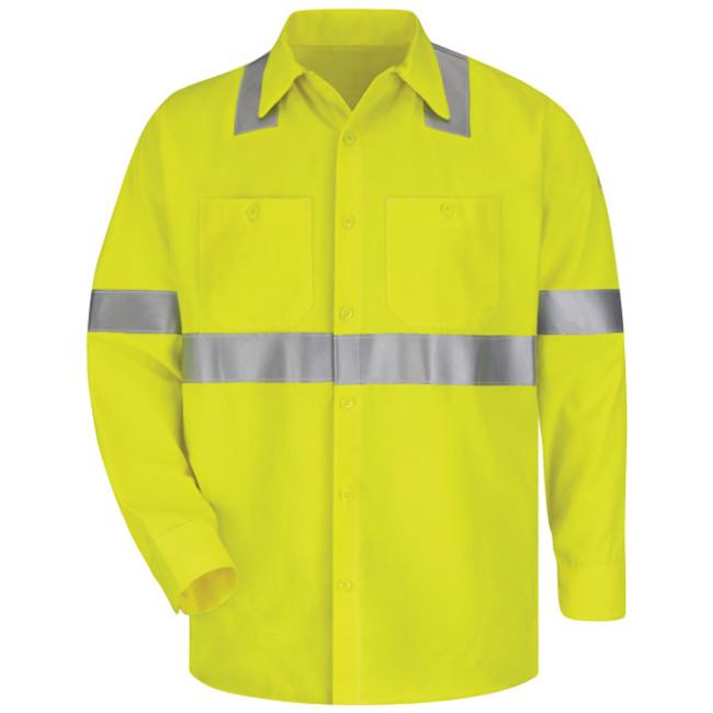 Bulwark FR Flame Resistant Hi-Visibility Work Shirt - SMW4
