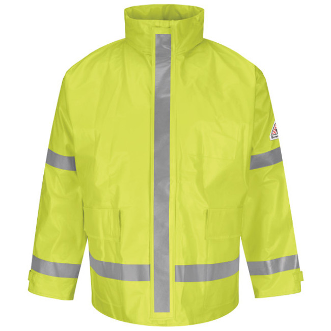 Bulwark FR Flame Resistant Hi-Visibility Flame-Resistant Rain Jacket - JXN6