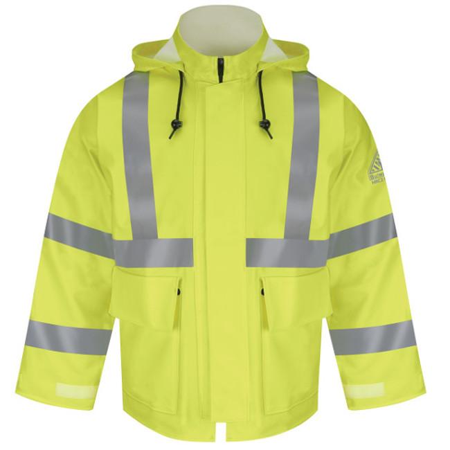 Bulwark FR Flame Resistant Hi-Visibility Flame-Resistant Rain Jacket - JXN4