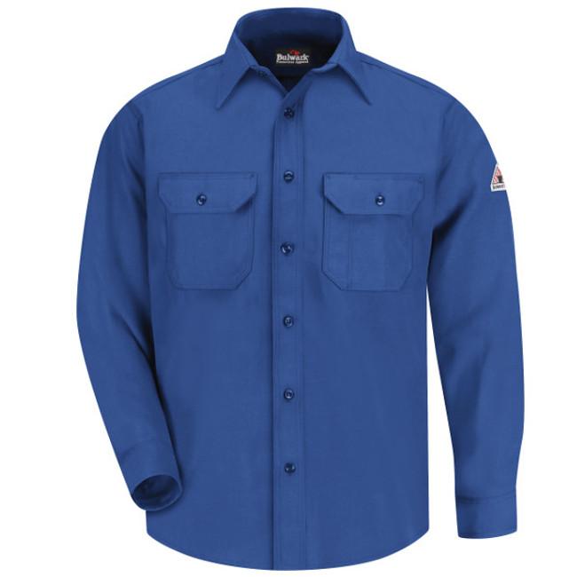 Bulwark FR Flame Resistant Uniform Shirt - Nomex IIIA - SND6 Royal Blue