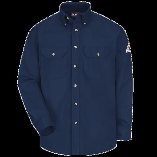 Bulwark FR Dress Uniform Shirt - Excel FR ComforTouch - SLU2 - SLU2 Royal Blue Front View