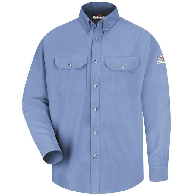 Bulwark FR Dress Uniform Shirt - CoolTouch 2 - SMU2 Light Blue Front View