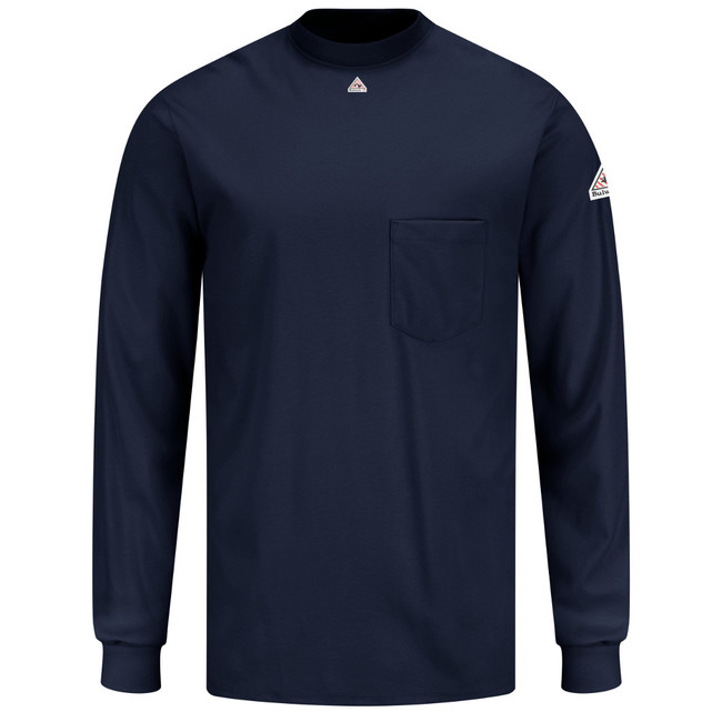 Bulwark FR Long Sleeve Tagless T-Shirt - Excel FR - SET2 Navy
