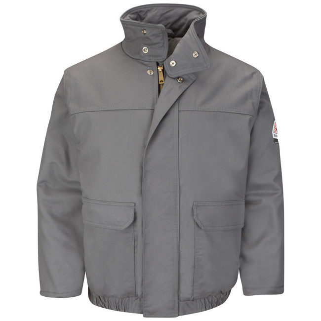 Bulwark FR Flame Resistant Insulated Bomber Jacket - EXCEL FR® ComforTouch - JLR8 Gray