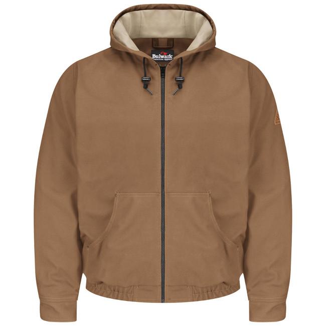 Bulwark FR Brown Duck Hooded Jacket - Excel FR ComforTouch - JLH4