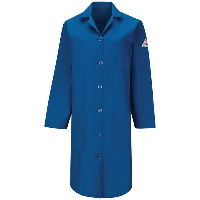 Bulwark FR Flame Resistant Women's Lab Coat - Nomex IIIA - KNL3 Royal Blue