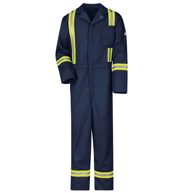 Bulwark FR Flame Resistant Classic Coverall with Reflective Trim - Excel FR - CECT  Royal Blue