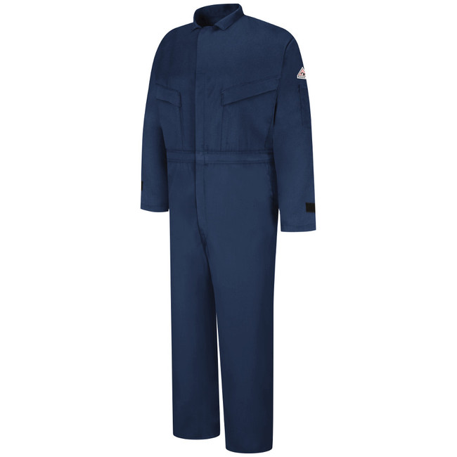Bulwark FR Flame Resistant Deluxe Coverall - Excel FR Comfortouch with Leg Zippers & Suppression Tabs - CLZ4 Navy