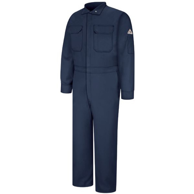 Bulwark FR Flame Resistant Men's Premium Coverall - Excel FR ComforTouch - CLB6 Navy