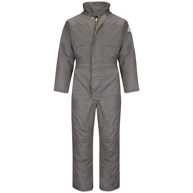 Bulwark FR Flame Resistant Premium Insulated Coverall - Excel FR ComforTouch - CLC8 Grey