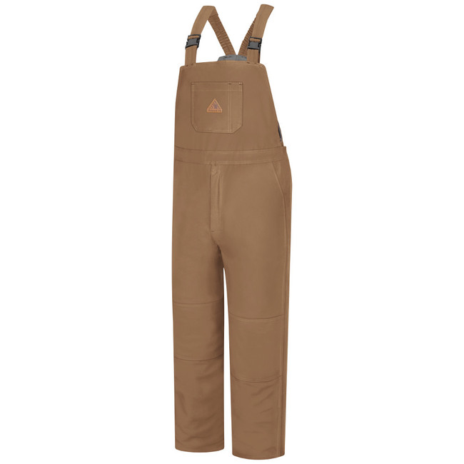 Bulwark FR Flame Resistant Brown Duck Deluxe Insulated Bib Overall - Excel FR ComforTouch - BLN4
