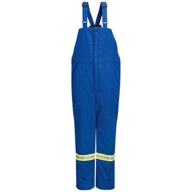 Bulwark FR Flame Resistant Deluxe Insulated Bib Overall with Reflective Trim - Nomex IIIA - BNNT Royal Blue