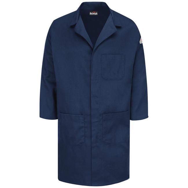 Bulwark FR Concealed Snap Front Lab Coat - Excel FR ComforTouch - KLL6 Navy