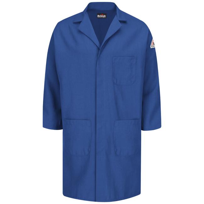 Bulwark FR Flame Resistant Concealed Snap Front Lab Coat - Nomex IIIA - KNL6 Royal Blue