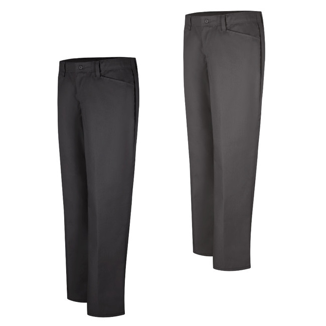 Women's Work NMotion Pant - PZ33BK / PZ33CH - Black and Charcoal Front View