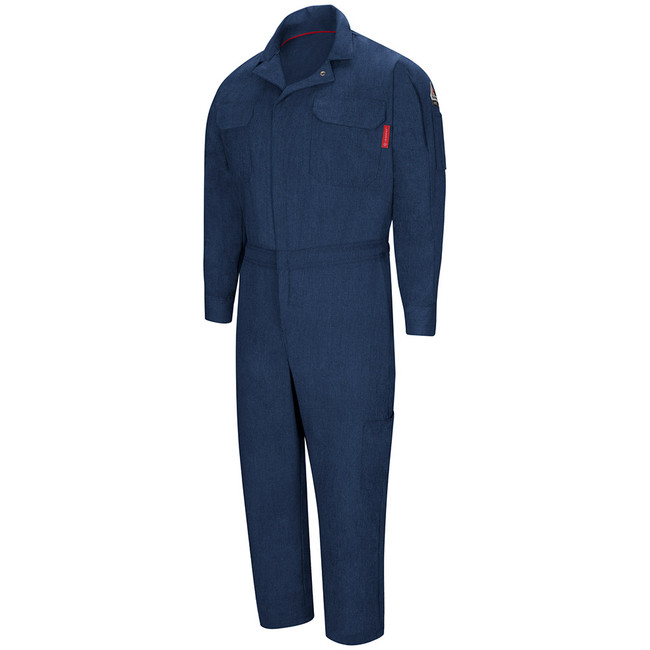 Bulwark FR Flame Resistant iQ Series Men's Mobility Coverall - QC20 Navy
