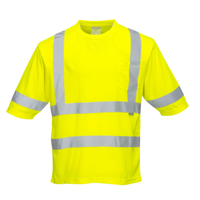 Portwest Dayton Type R Class 3 High Visibility T-Shirt - S393 Yellow with Reflective Trim