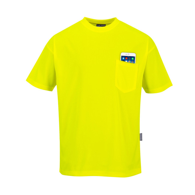Portwest Non ANSI Pocket Short Sleeve T-Shirt - S578 Yellow