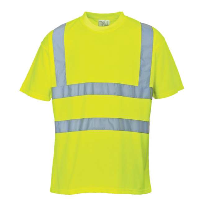 Portwest High Visibility T-Shirt - S478 Yellow with Reflective Trim