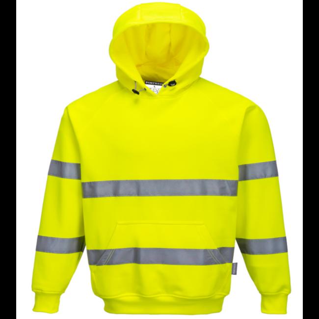 Portwest Hi-Visibility Hooded Sweatshirt - B304 Yellow