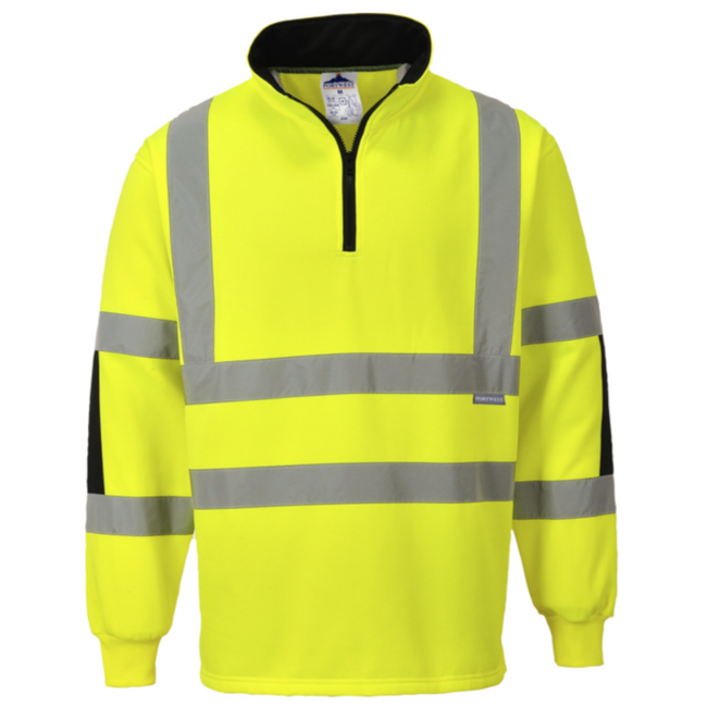 Portwest Xenon Rugby Shirt - B308 Yellow Black