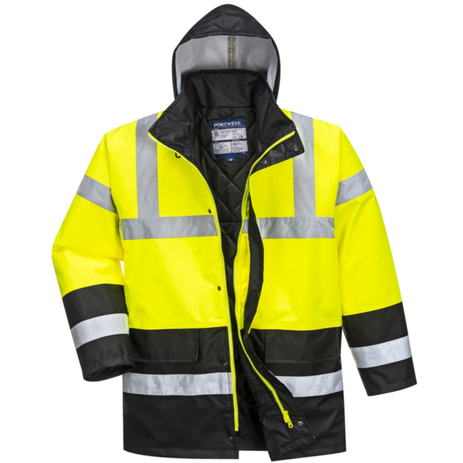 Portwest Insulated Hi-Vis Contrast Traffic Jacket - US466