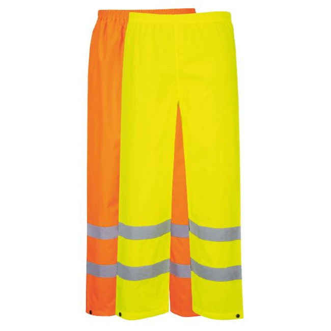 Portwest Hi-Vis Traffic Pants - S480 in Orange and Yellow