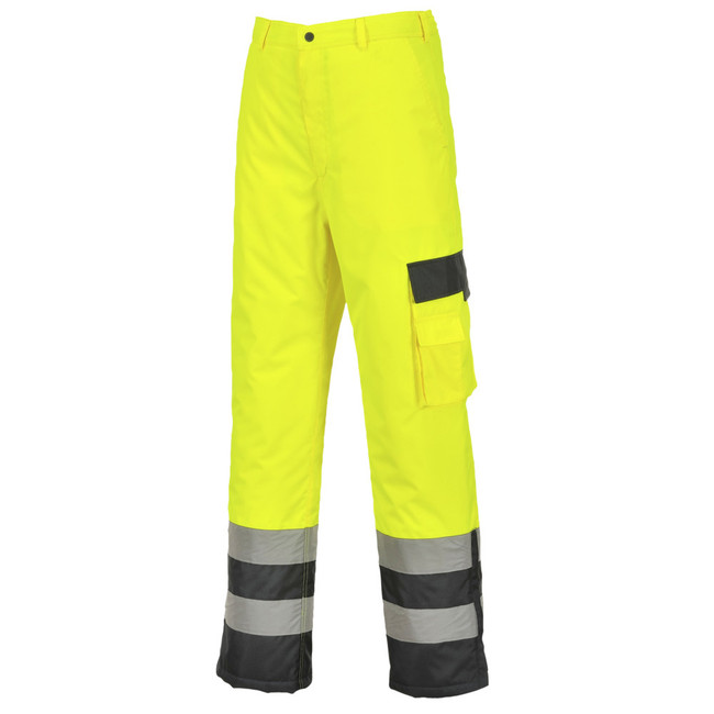 Portwest Hi-Vis Contrast Pants Lined - S686