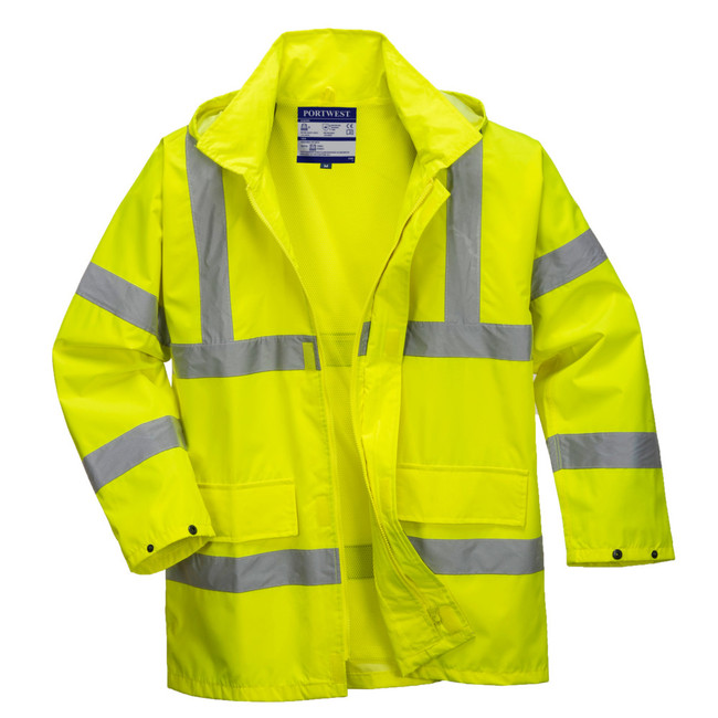 Portwest High Visibility Lite Traffic Jacket - US160 Front View