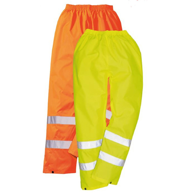 Portwest Hi-Vis Rain Pants - H441 in Yellow or Orange with Reflective Trim