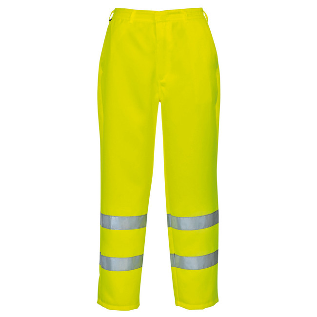 Portwest Hi-Vis Polycotton Pants - E041 - Safety Pants with Reflective Tape