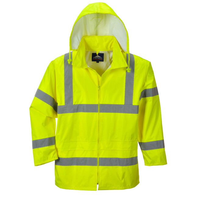 Portwest Hi-Vis Rain Jacket - UH440 Front View