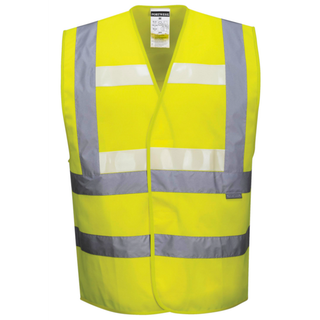 Portwest Triple Technology Vest Glow in the Dark Vest - G470 Front View