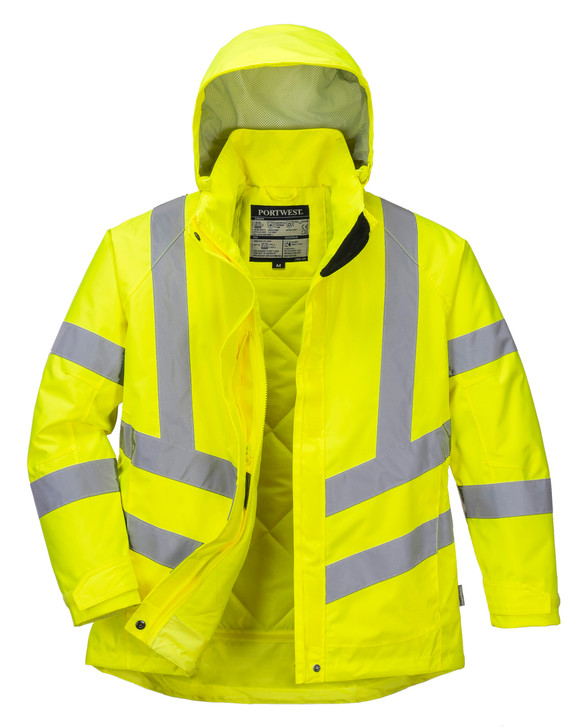 Portwest Ladies Hi-Vis Winter Jacket Yellow - LW74
