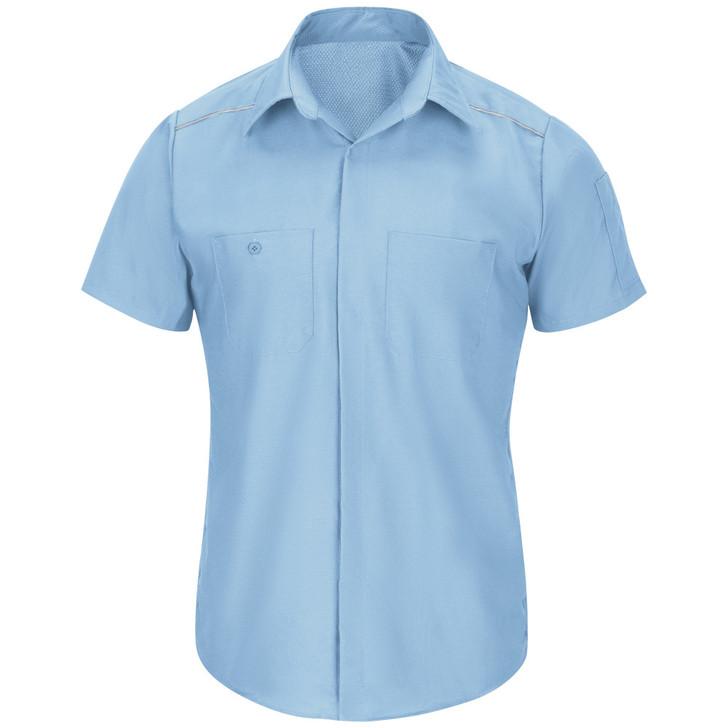 Red Kap Men's Pro Airflow Work Shirt - SP4A Short Sleeve Light Blue