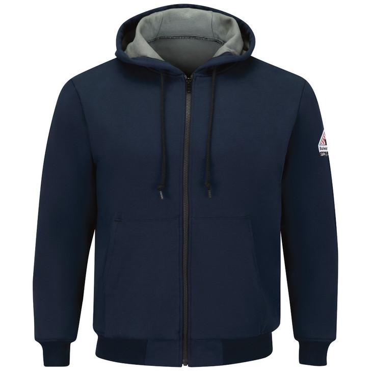 Bulwark FR Men's Thermal Lined Zip-Front FR Hooded Sweatshirt - SEZ4NV