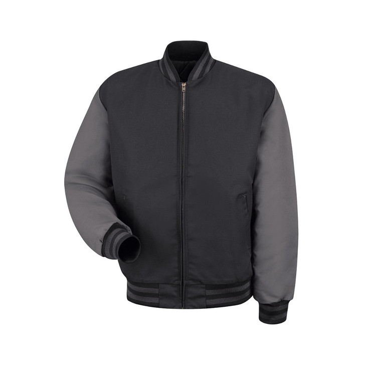 Red Kap Men's Duo-Tone Team Jacket Black/Charcoal JT40BC