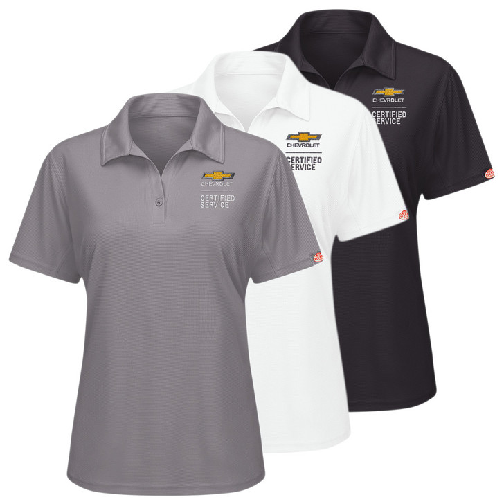 Chevrolet Women's Performance Knit Polo in 3 colors Grey White Black
