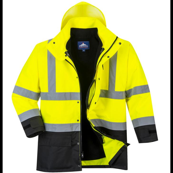 Portwest Hi-Vis Executive 5-in-1 Jacket - US768 - Outer Jacket
