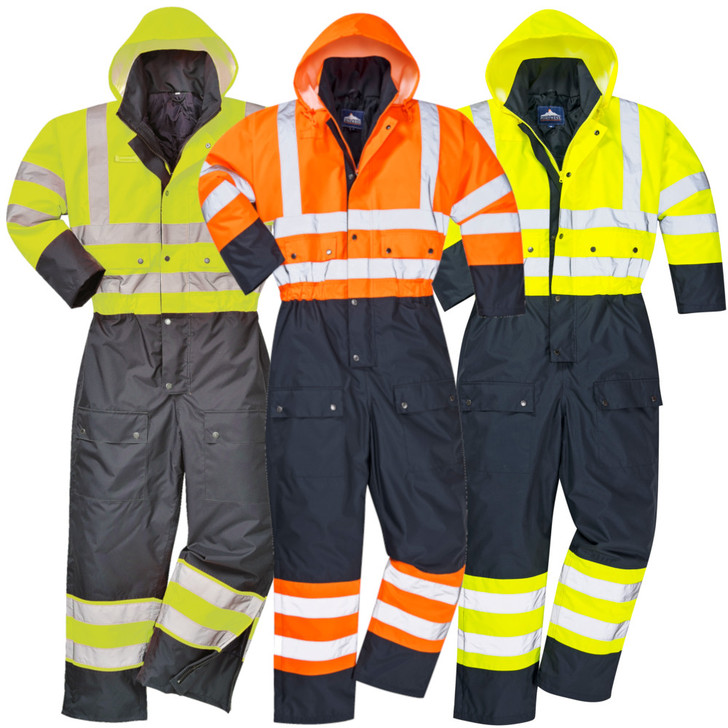 Portwest Insulated Rainwear Hi-Visibility Contrast Coverall - S485