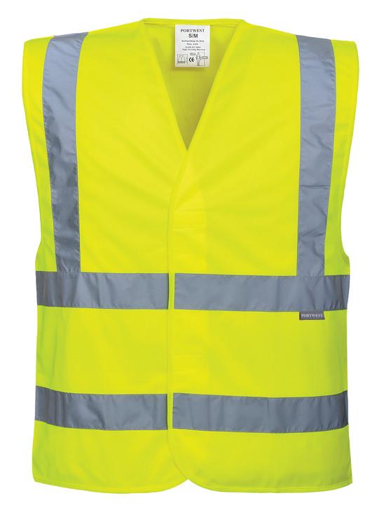 Portwest Hi-Vis Two Band & Brace Vest - C470 Yellow