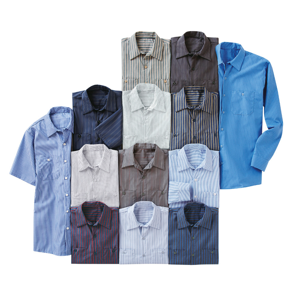 78cc74ebbf Red Kap Men s Industrial Stripe Work Shirt - SP20   SP10