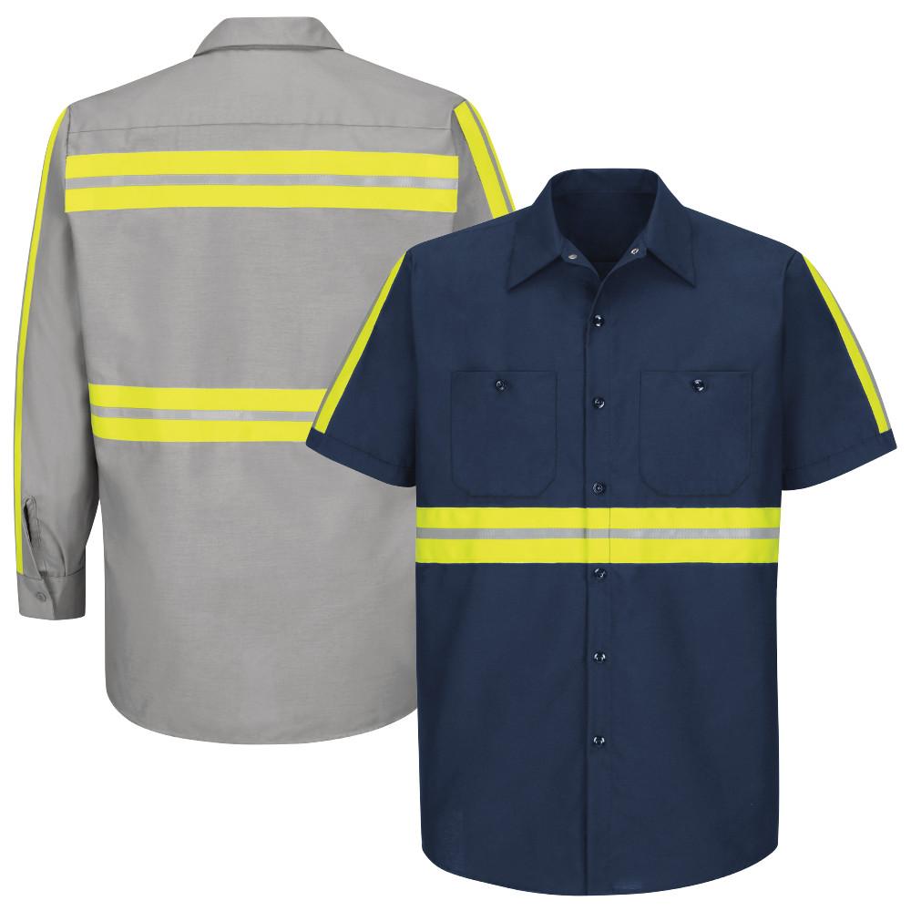 962b66c7b Red Kap Men's Enhanced Visibility Industrial Work Shirt - SP24 / SP14
