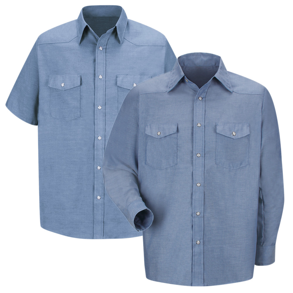 b29b79ef04 Deluxe Western Style Men s Shirts - Red Kap SC24 SC14