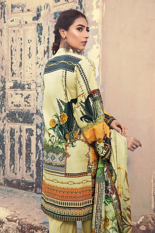 Gul Ahmed 3 Piece Custom Stitched Suit - Off-White - LB14587