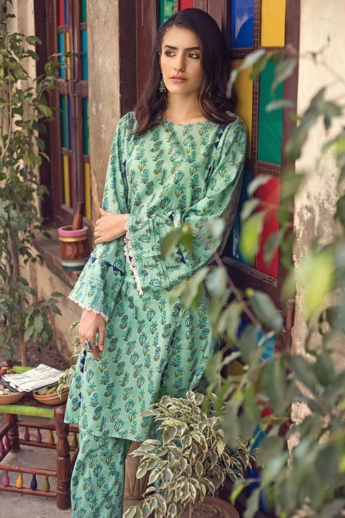 Gul Ahmed 1 Piece Custom Stitched Shirt - Green - LB14604