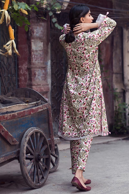 Gul Ahmed 1 Piece Custom Stitched Shirt - Pink - LB14605