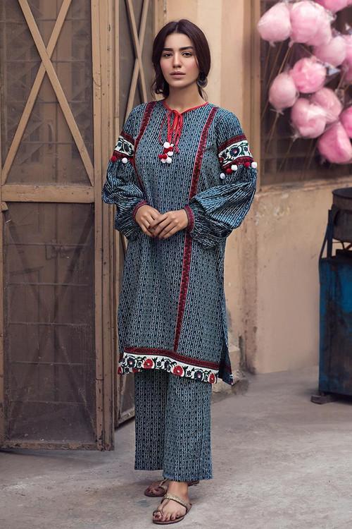 Gul Ahmed 1 Piece Custom Stitched Shirt - Grey - LB14609